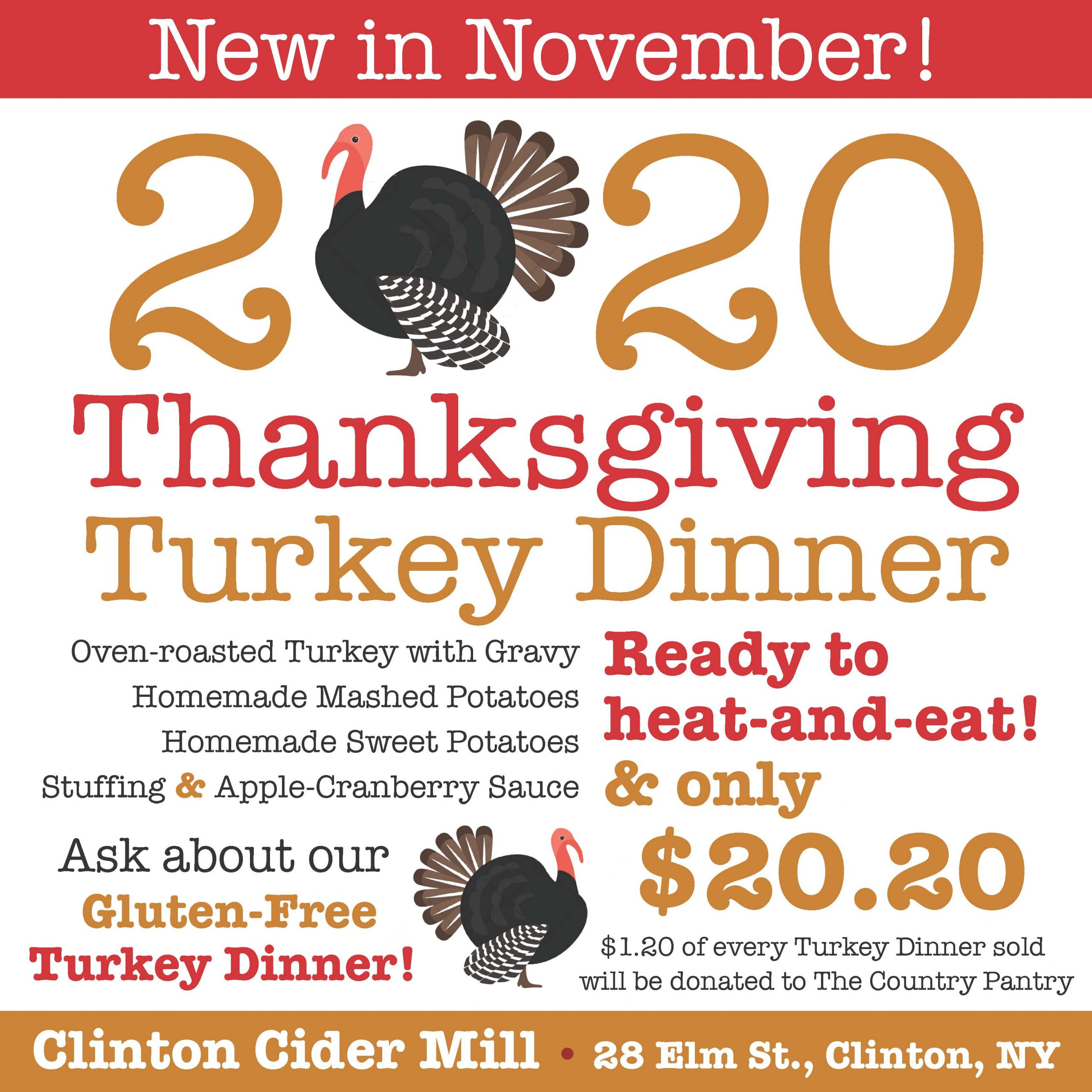 Thanksgiving dinner available!