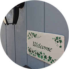 Lodging Welcome Sign